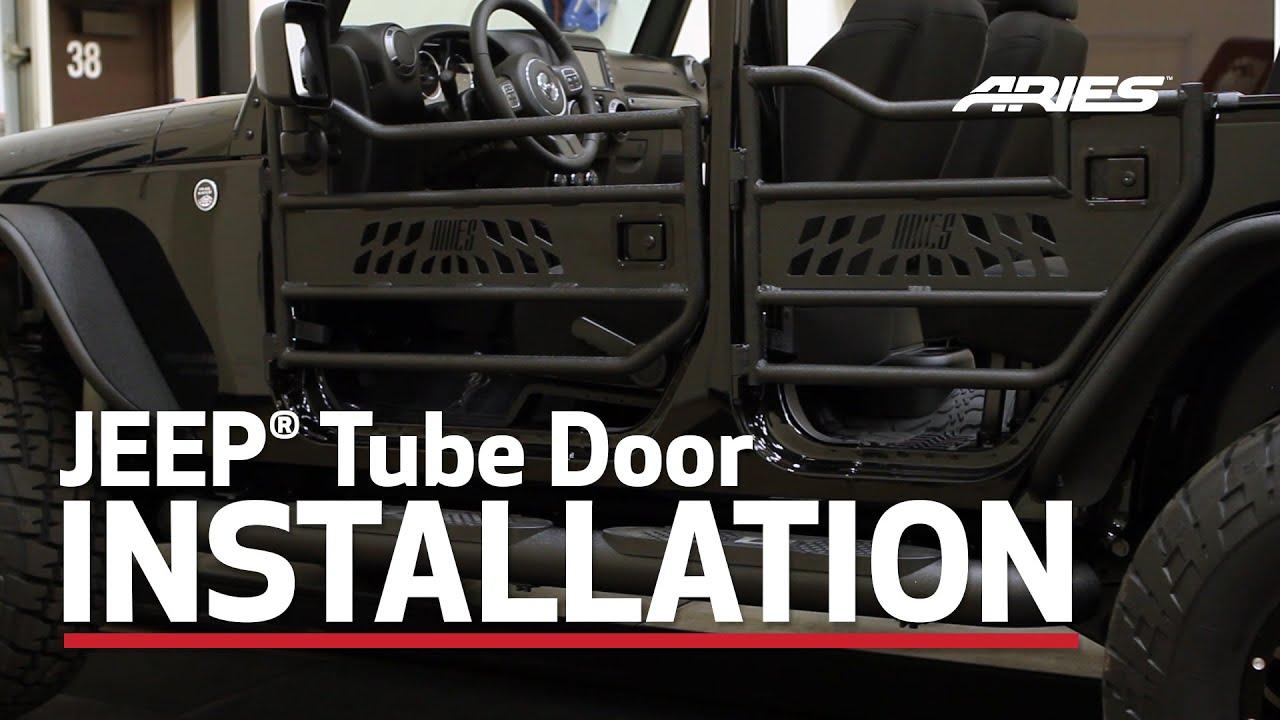 Aries Jeep 174 Wrangler Tube Doors Ar15009 25009 Youtube