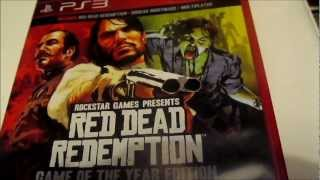 Red Dead Redemption Game of the Year Edition PS3 unboxing