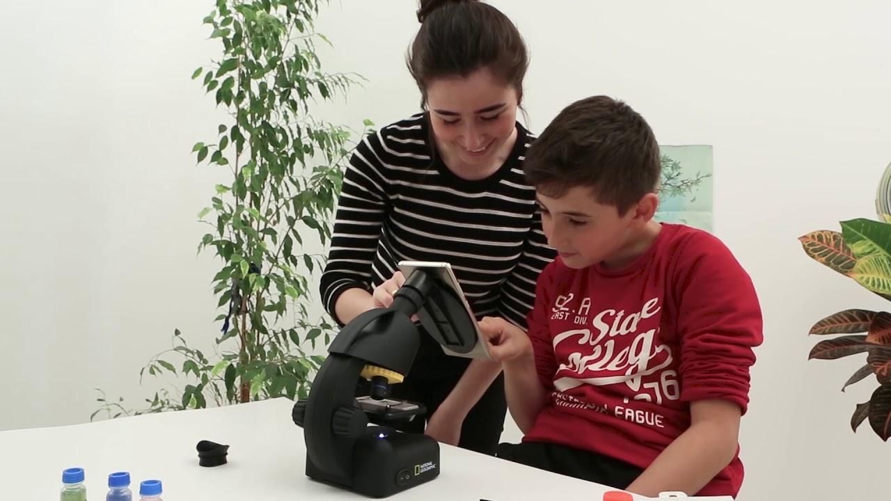 Bresser junior mikroskop mit zubehör und transportkoffer