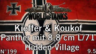world of tanks 9 5 panther mit 8 8 cm l 71 hidden village commentaire de replay fr 1080p