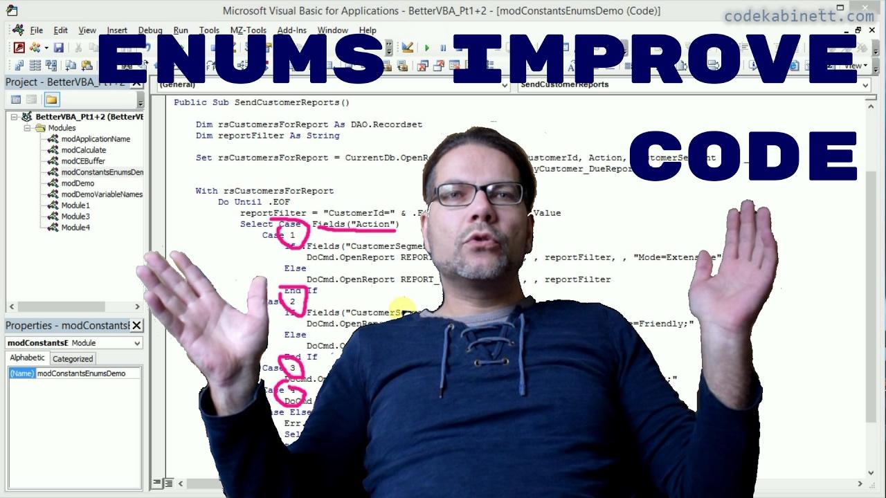 Better VBA 4 - Using Enums (Enumerations) in VBA
