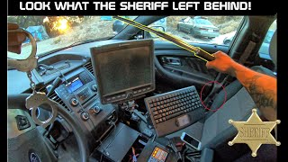 Searching a Sheriff Taurus Police Interceptor! Look what they left behind!