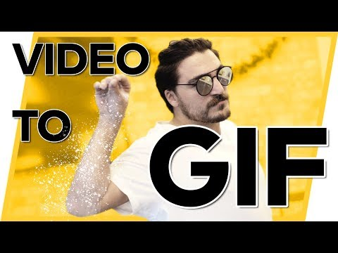 How to MAKE a GiF Animation! -- Convert Video To Gifs Easily