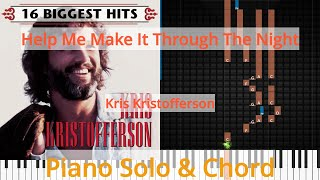 🎹Solo & Chord, Help Me Make It Through The Night, Kris Kristofferson, Synthesia Piano