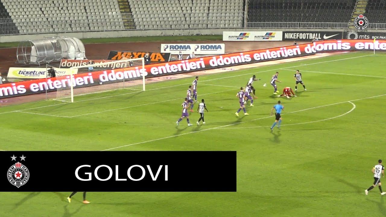 Golovi sa utakmice 3. kola Linglong SLS FK Partizan - FK Javor 4:0