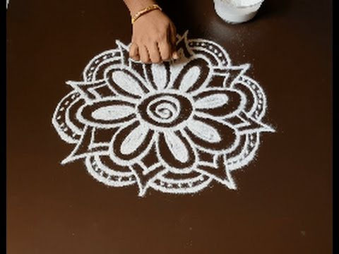 Easy rangoli designs without dots - freehand kolam for ...