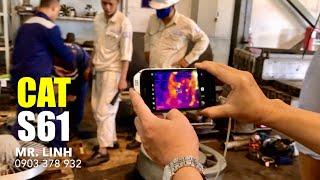 Camera hồng ngoại giám sát nhiệt độ Smart phone S61 - CAT. Rà soát nCoV-19, Corona.