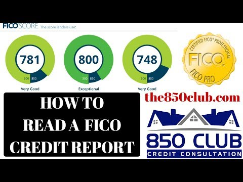 How To Read Your FICO Credit Report - 850 Club Credit Consultation