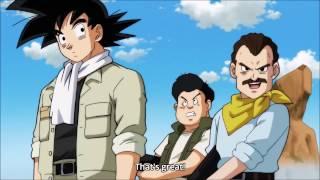 Goku fights with humans - DBS ep. 77