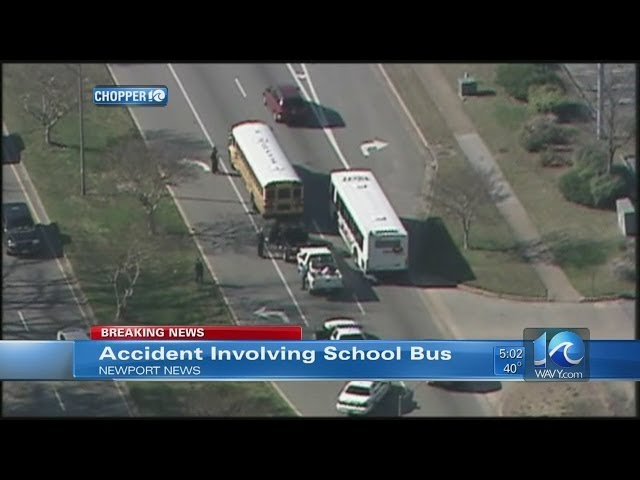 WAVY News 10 at 5: Newport News school bus crash Travel Video