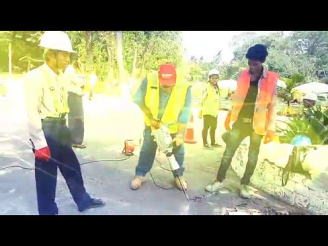 K31-CAP Cold Mix Asphalt Polymer Road Preparation at Yangon Zoo Myanmar