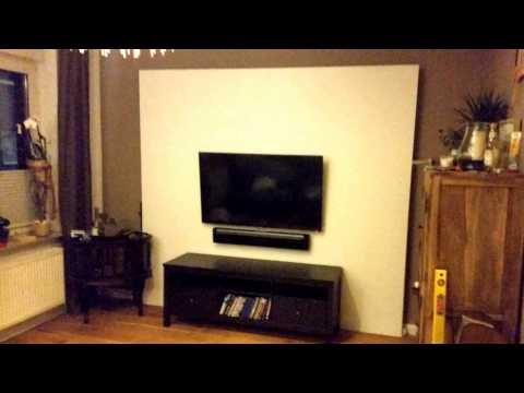 fernsehwand mit beleuchtung youtube. Black Bedroom Furniture Sets. Home Design Ideas
