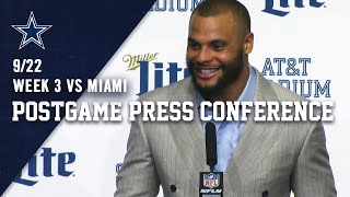 Dak Prescott Postgame Week 3 vs MIA | Dallas Cowboys 2019