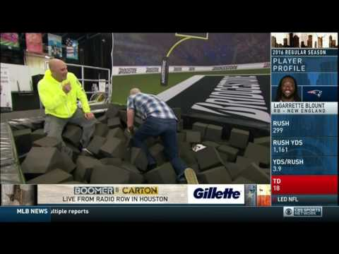 Boomer and Carton - Boomer Esiason throws footballs to Craig & Al