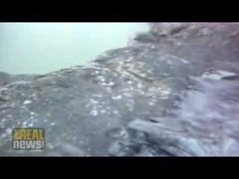 Melting ice causes river tsunami in Chile