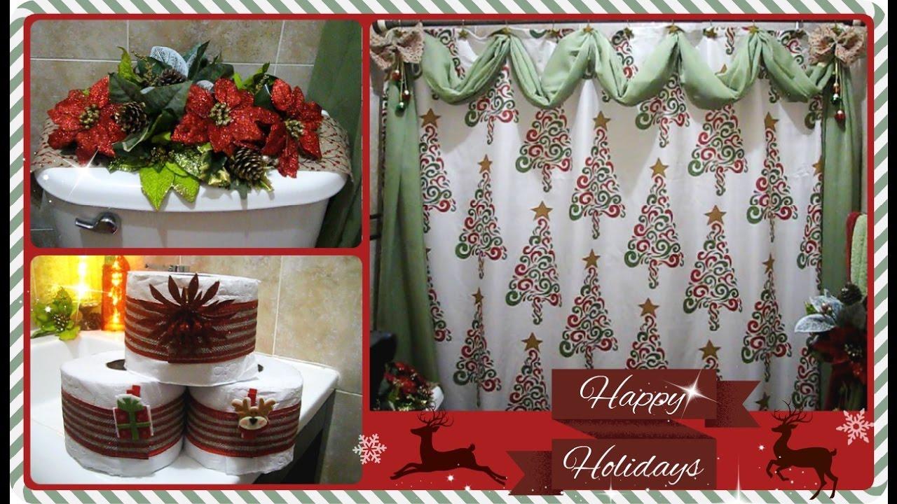 como decorar el bao para navidad paso a paso