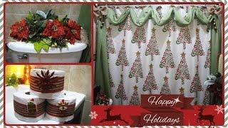 Como decorar el baño para navidad paso a paso