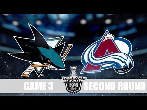 Avalanche VS Sharks Game 3 Колорадо Сан Хосе Плей-офф, 1/4 финала, Обзор матча