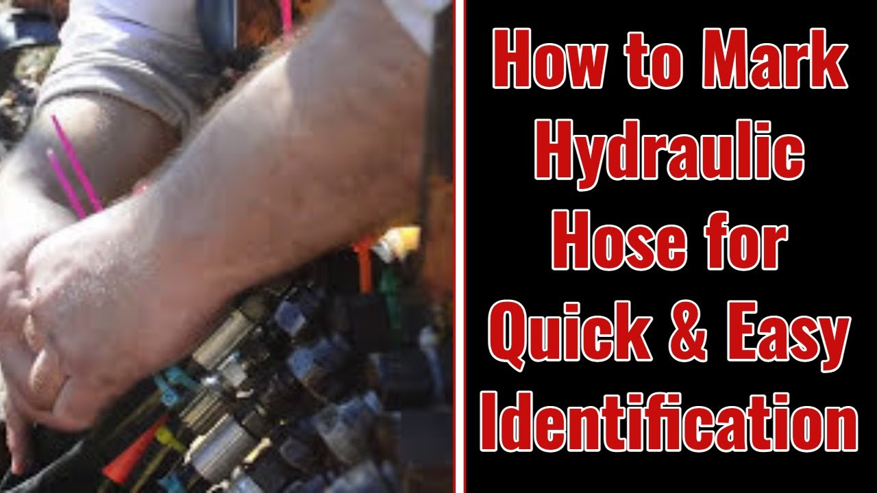 How to Mark Hydraulic Hose for Quick and Easy Identification