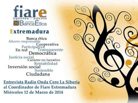 Radio Onda Cero La Siberia - Entrevista al coordinador de Fiare Extremadura