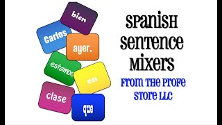 Spanish Sentence Mixer Preview