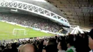 Huddersfield 2-2 Leeds, Leeds Fans After Becchio Goal 27/2/10