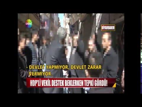 HDP'li vekil destek beklerken tepki gördü!