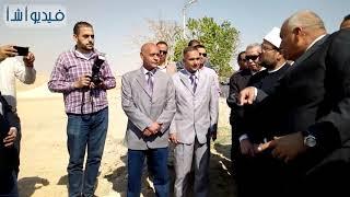 بالفيديو: وضع حجر الأساس لأكبر مسجد بالخارجة بحضور وزير الاوقاف ومحافظ الوادي الجديد