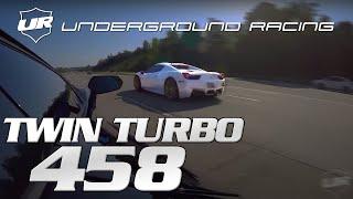 (( VOLUME UP!! )) Underground Racing TWIN TURBO 458 VS modded AVENTADOR