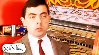 Mr BEAN Coin Pusher Machine! | Mr Bean Funny Clips | Mr Bean Official