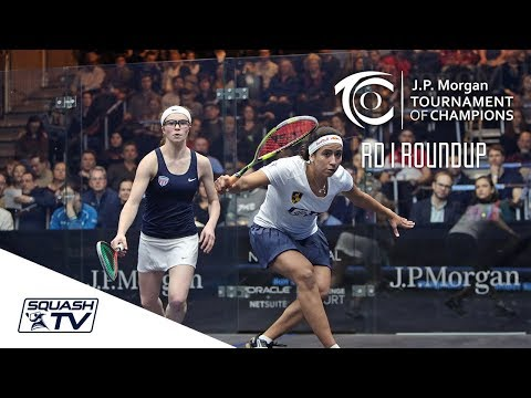 Squash: Tournament of Champions 2018 - Women\'s Rd 1 Roundup [Pt.1]