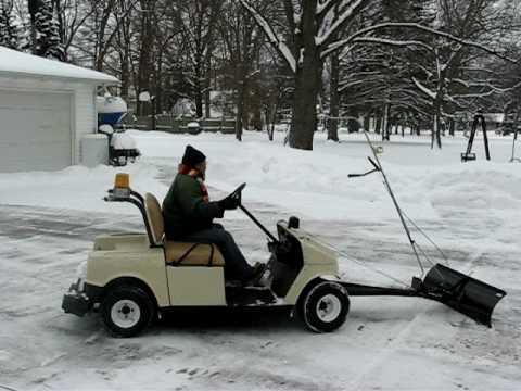 Snow Plow Prices >> golf cart plow snow - YouTube