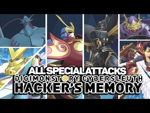 Digimon Story : Cyber Sleuth Hacker's Memory :  All Signature/Special Attacks & Victory Poses!