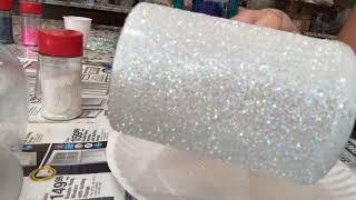 Tack it method with MangoTango Twisted Glitter classic opal