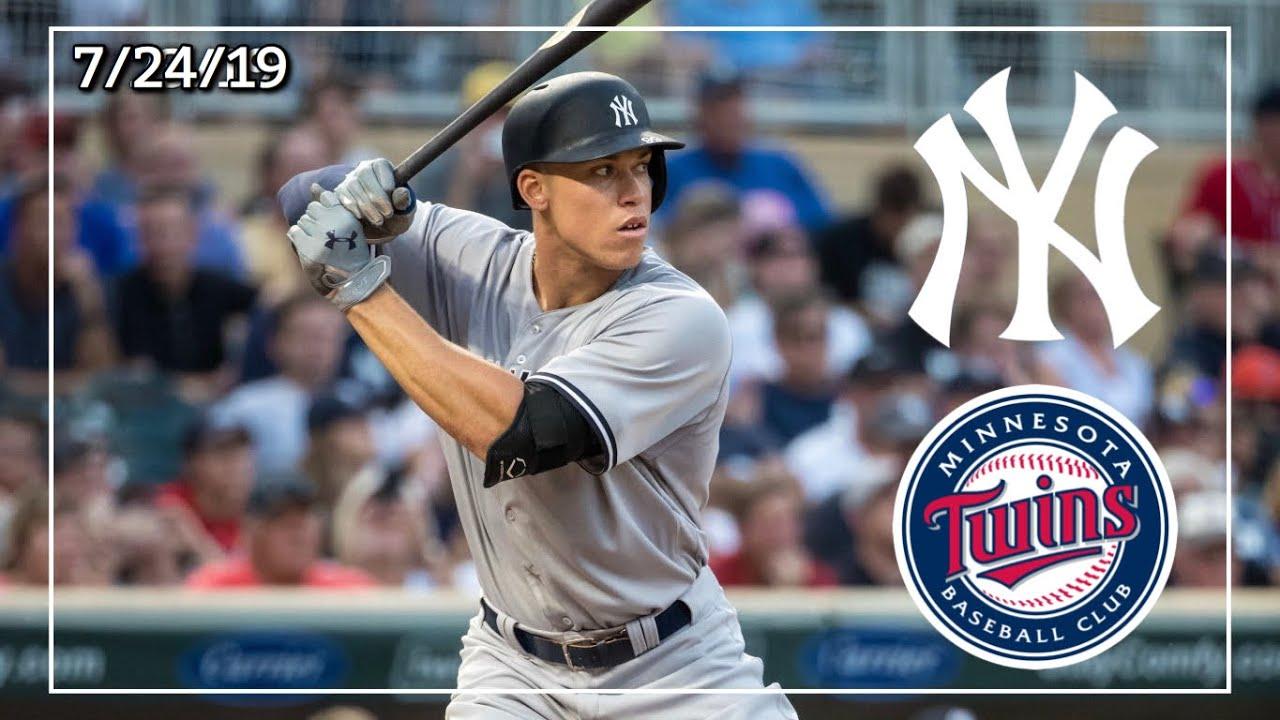 New York Yankees Minnesota Twins Game Highlights 7 24 19 25