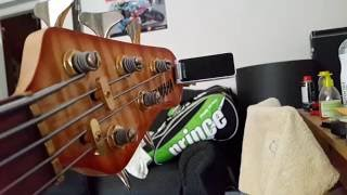 polytune clip tuner on a 5 string bass how low can i tune my b string
