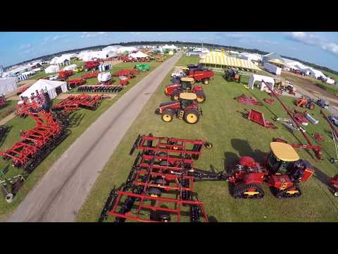 Setting up for the 2017 Farm Progress Show in Decatur Illinois