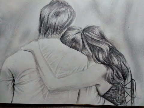 Couple drawing- pencil drawing-Drawing steps
