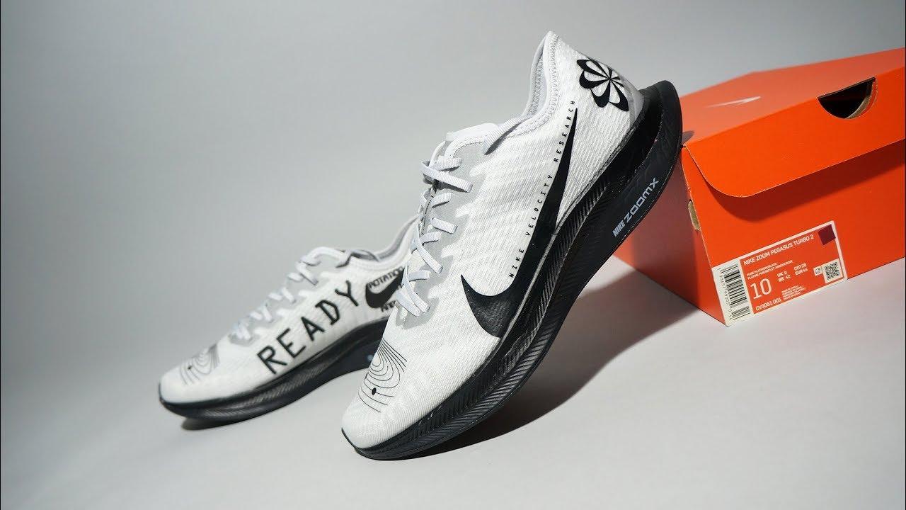 Nike Zoom Pegasus Turbo 2 Pure Platinum Black CV3051-001