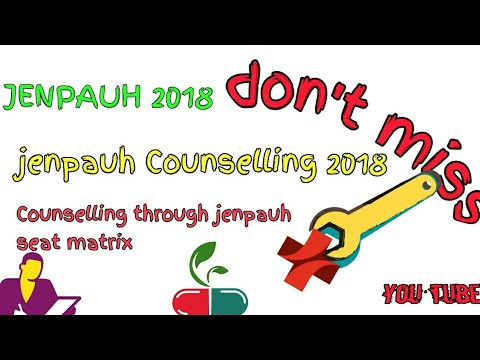 Jenpauh Counselling guidelines seat intake  jenpauh 2018