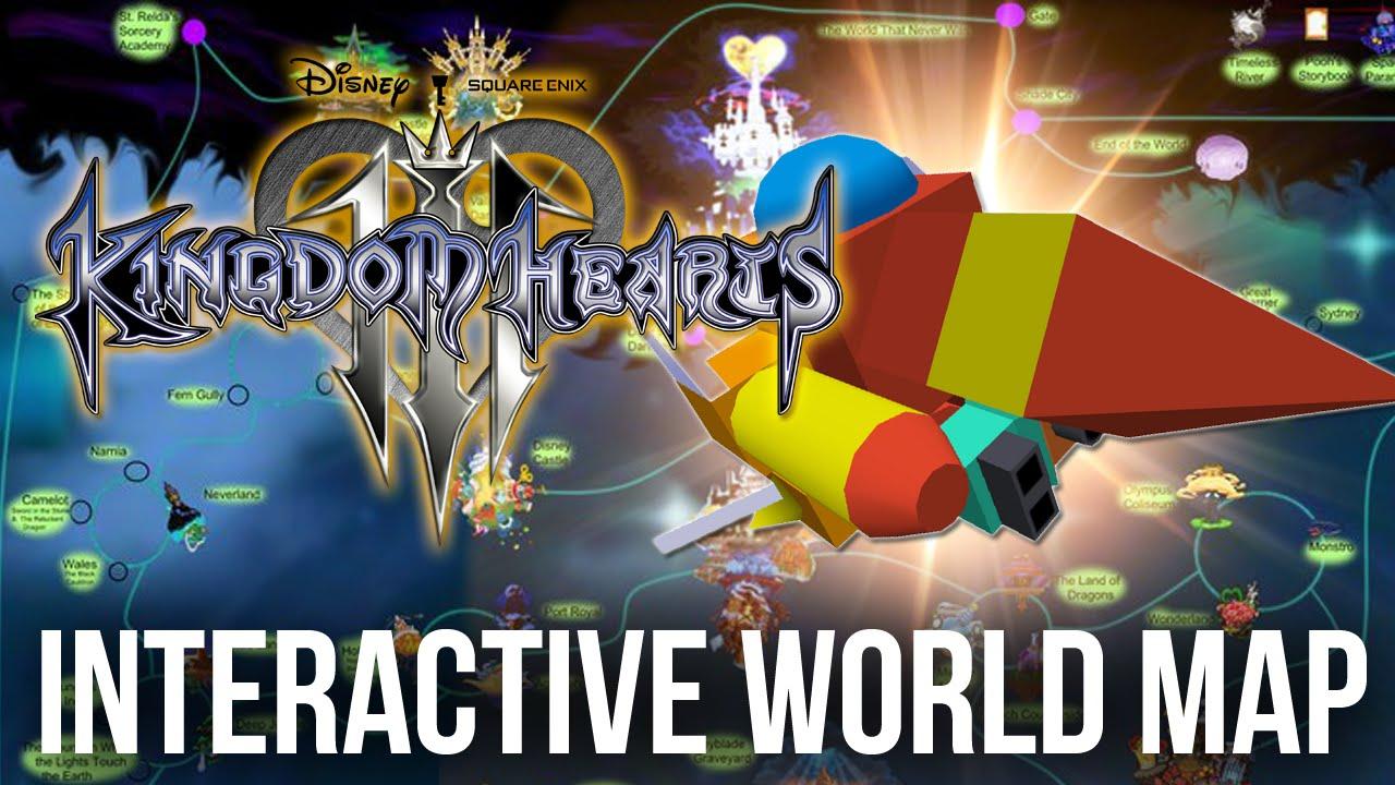 Kingdom Hearts 3 - Interactive World Map (Kingdom Hearts Discussion ...