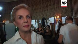 Carolina Herrera celebrates her 35th year in fashion with runway show; talks seeking elegance instea