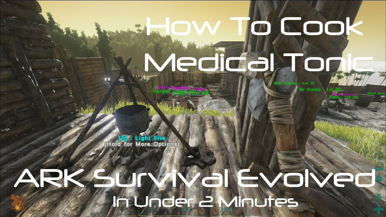 ARK Survival Evolved: How To Cook Medical Tonic