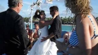 Wedding party boat catamaran Punta Cana