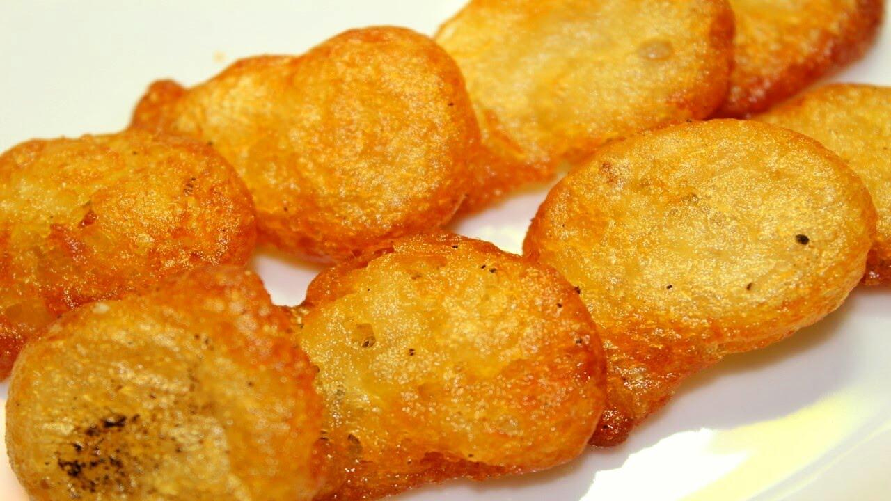 البطاطس المهروسة المقلية المقرمشة Youtube