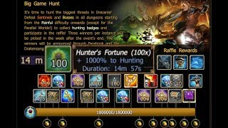 Drakensang online - Big Game Hunt / Full Finish Event with 1000% buff