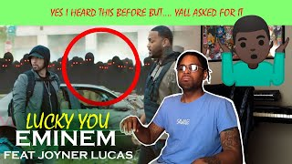 EMINEM - LUCKY YOU (Feat. Joyner Lucas) *Reaction*
