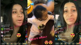 Cardi B LIVE Talking About Baby Girl  Kulture Learning To Walk