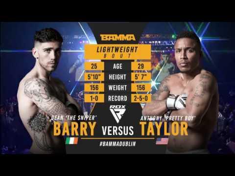 Bamma 35 Dean Barry Vs Anthony Taylor Youtube