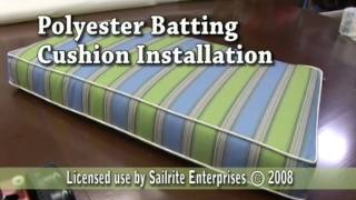 Using Polyester Batting in a Cushion to Plump it Up